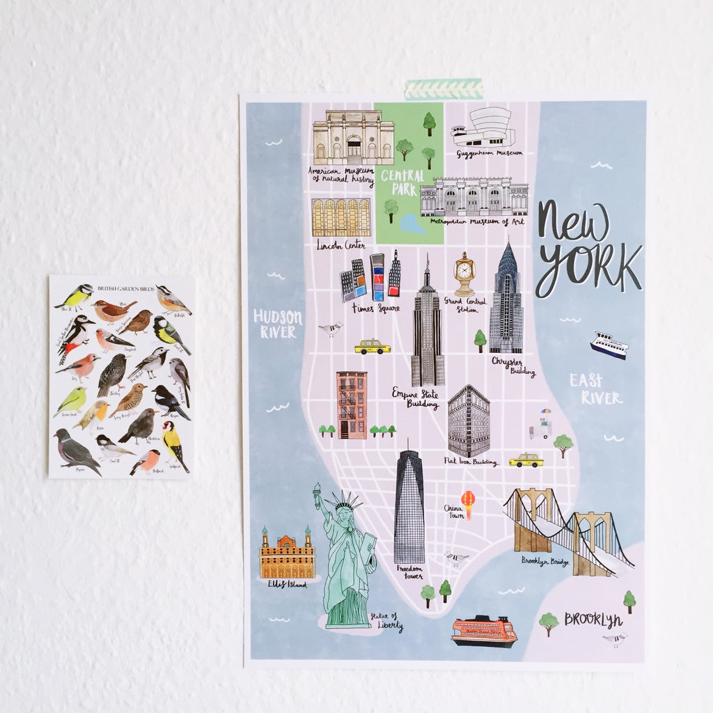 New York Map Art Print - Sarah Frances