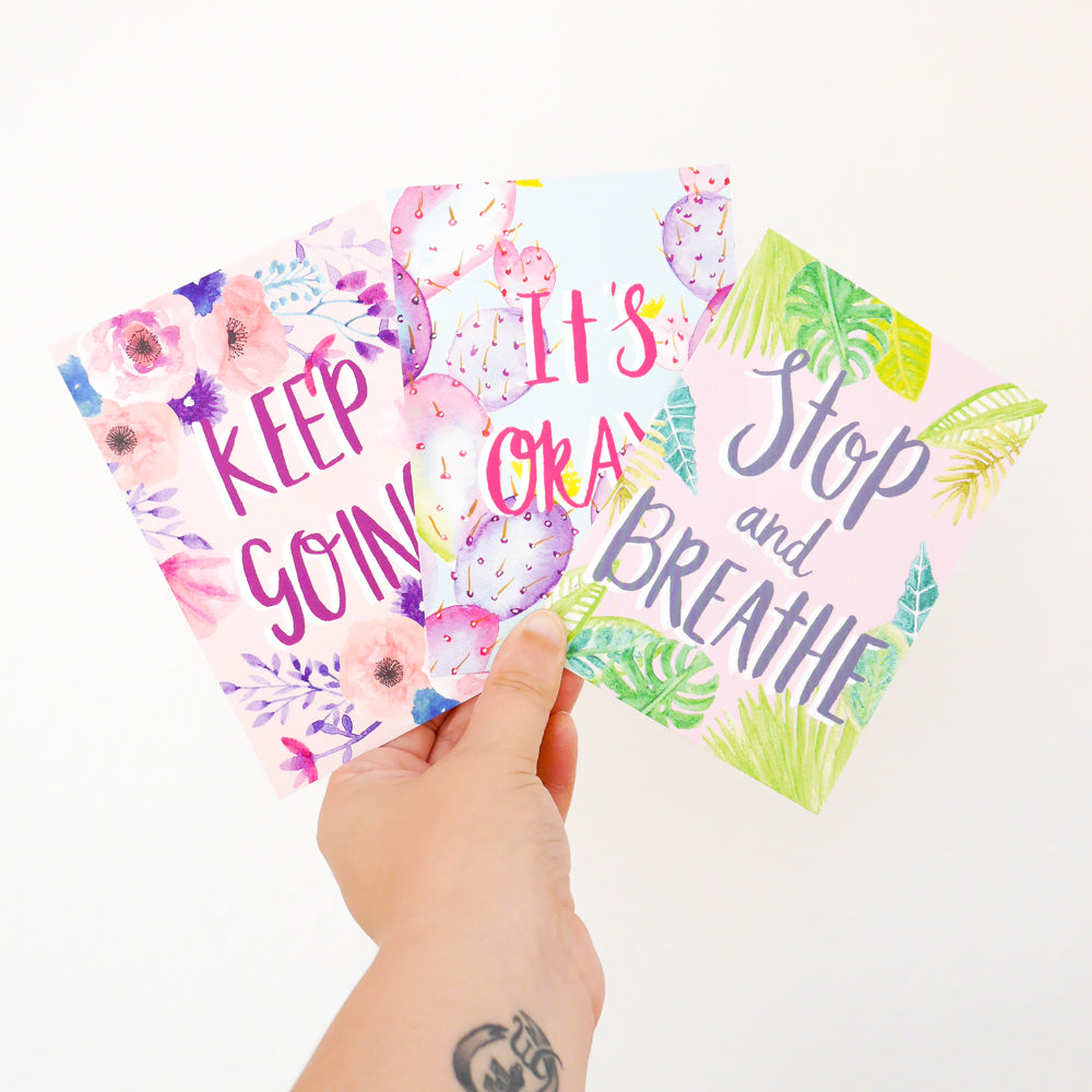 Motivational Quotes Postcard Pack - Sarah Frances