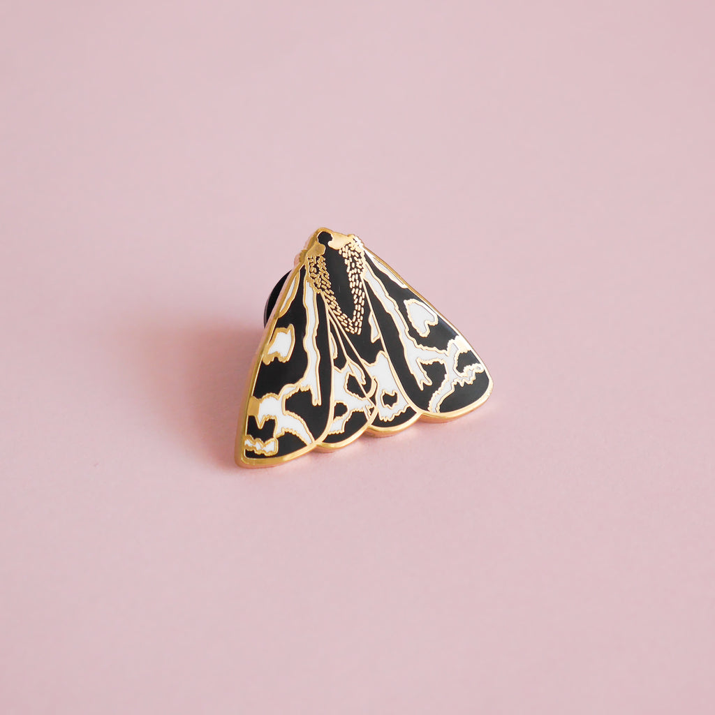 Tiger Moth Enamel Pin - Sarah Frances