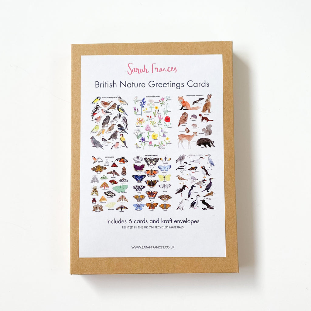 British Nature Greetings Card Pack - Sarah Frances