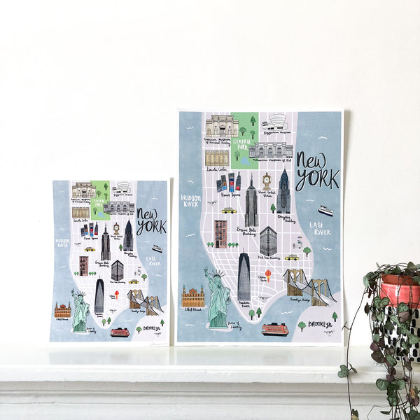 New York Map Art Print