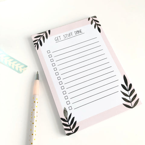 Get Stuff Done To Do List Notepad