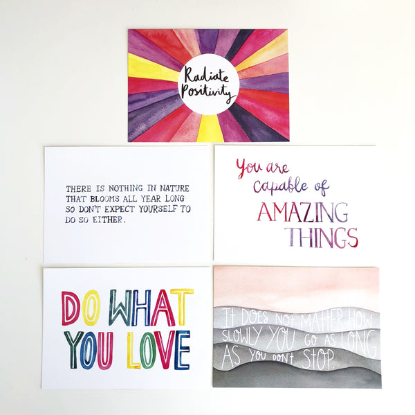 Positive Thinking Postcard Pack