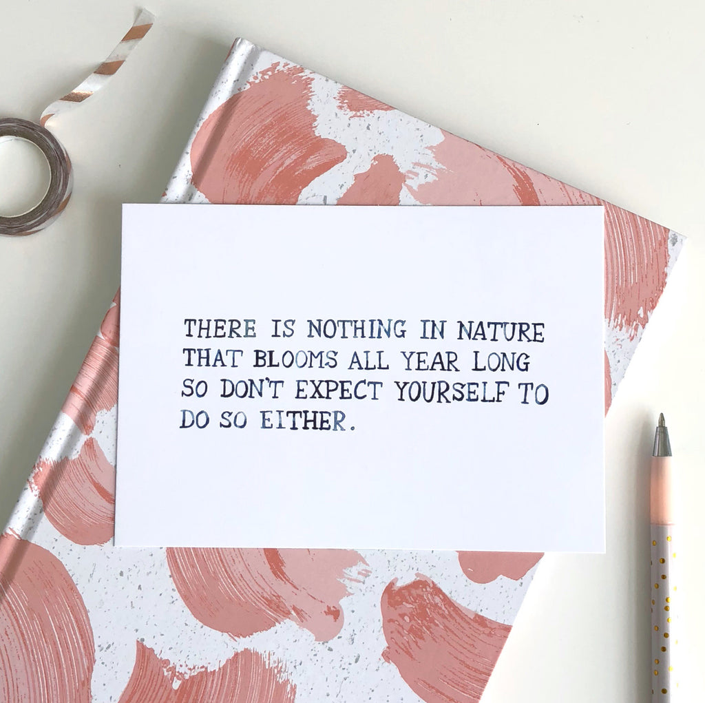 Nothing in Nature... Postcard - Sarah Frances