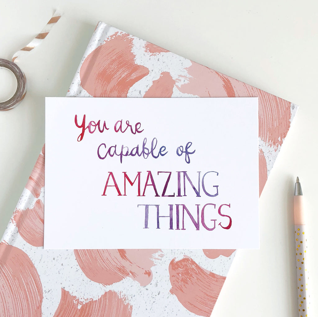Amazing Things Postcard - Sarah Frances