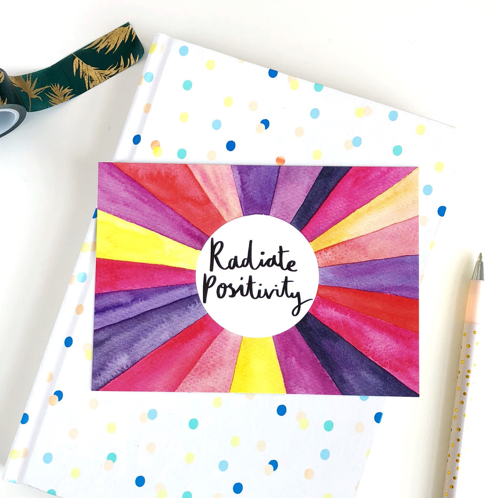 Radiate Positivity Postcard - Sarah Frances