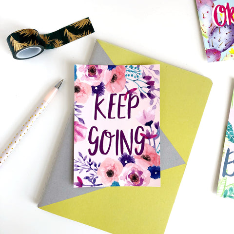 Keep Going Postcard