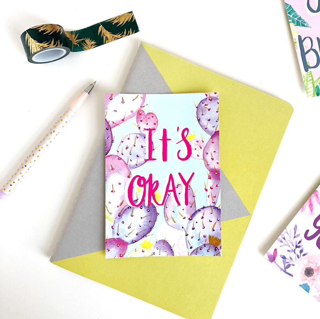 It's Okay Postcard - Sarah Frances