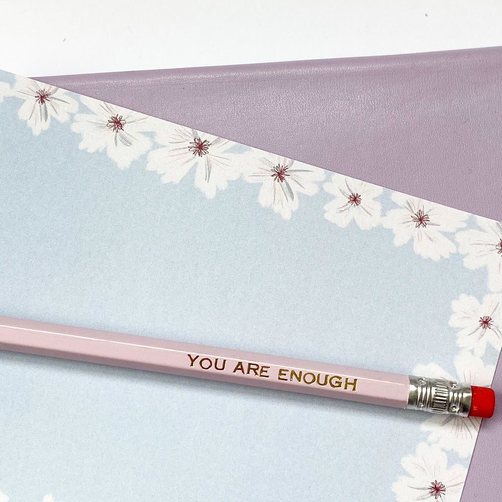 You Are Enough Goil Foil Pencil - Sarah Frances