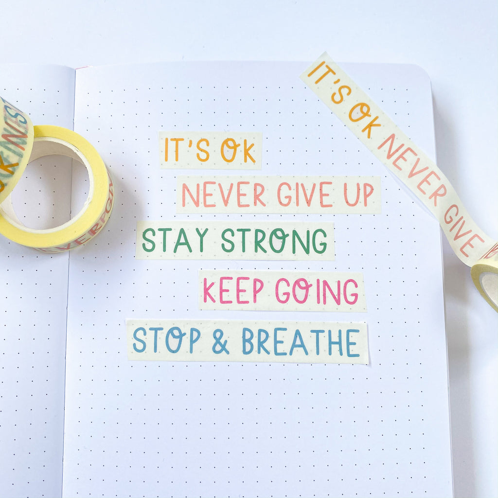 Self Care Quotes Washi Tape - Sarah Frances