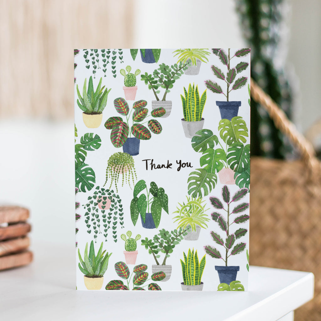 Plants Thank You Greetings Card - Sarah Frances