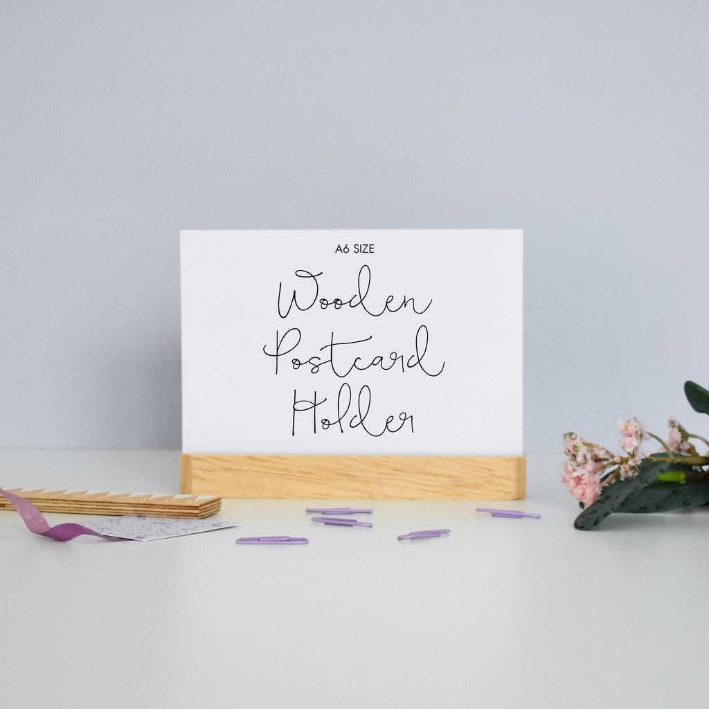 Wooden Postcard Display Stand - Sarah Frances