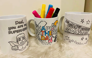 fathers day Colour In Mugs