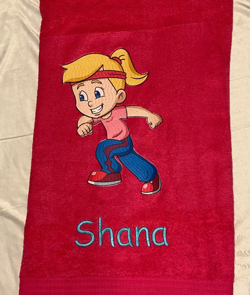 Little Athletic girl towel
