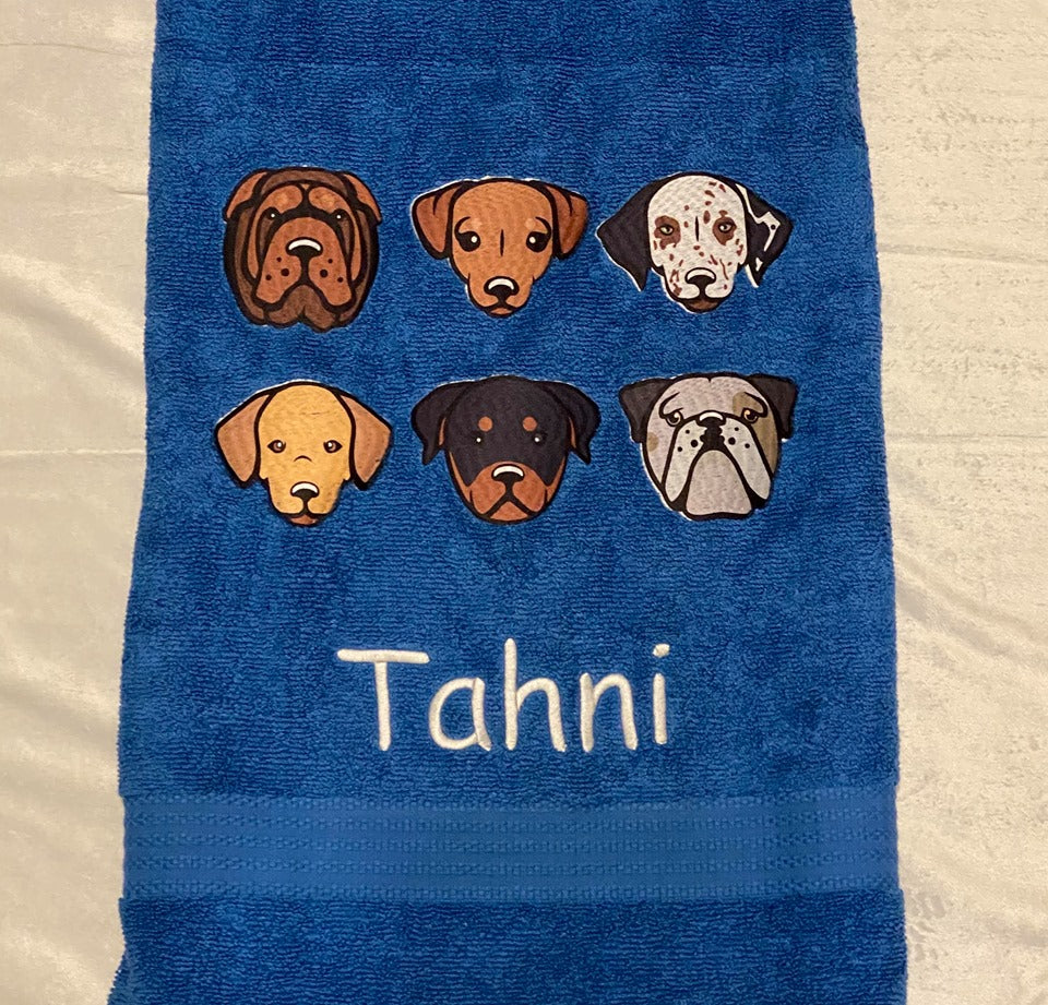 Character Dogs towel