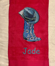 Cow Girl Boots towel