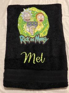 Rick and Morty Personalised towel