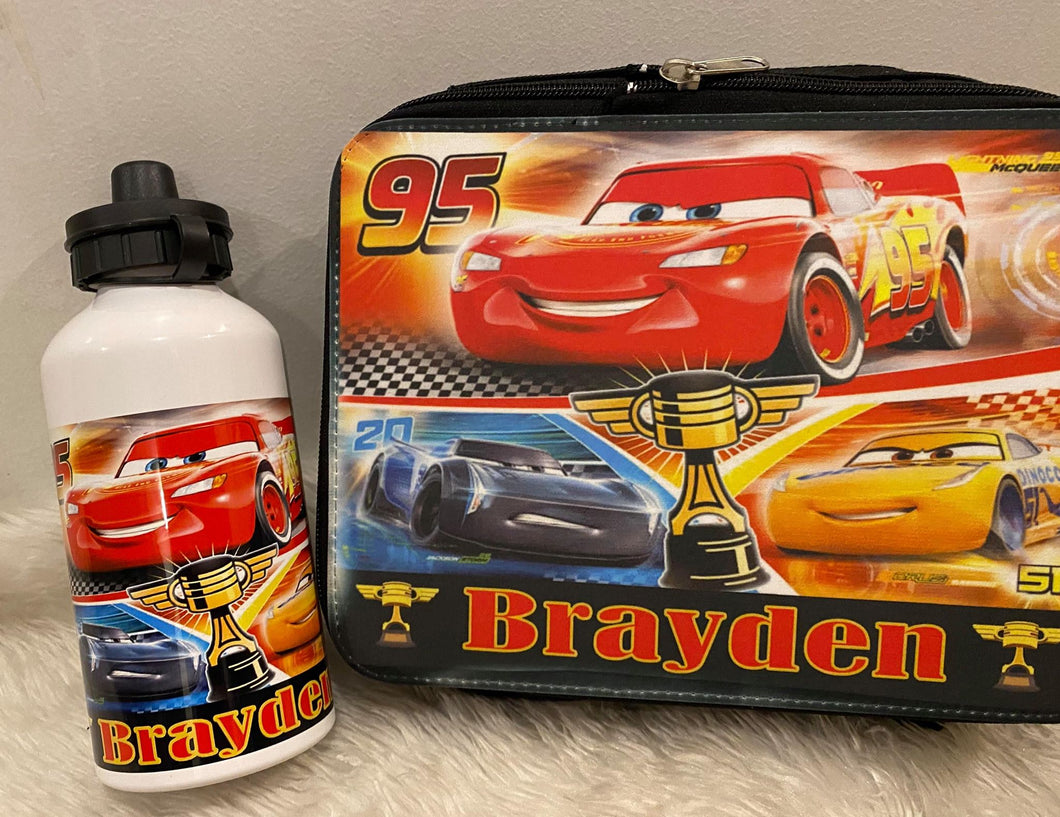 Cars Lunch Box and Drink Bottle