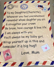 To my daughter Custom Blanket