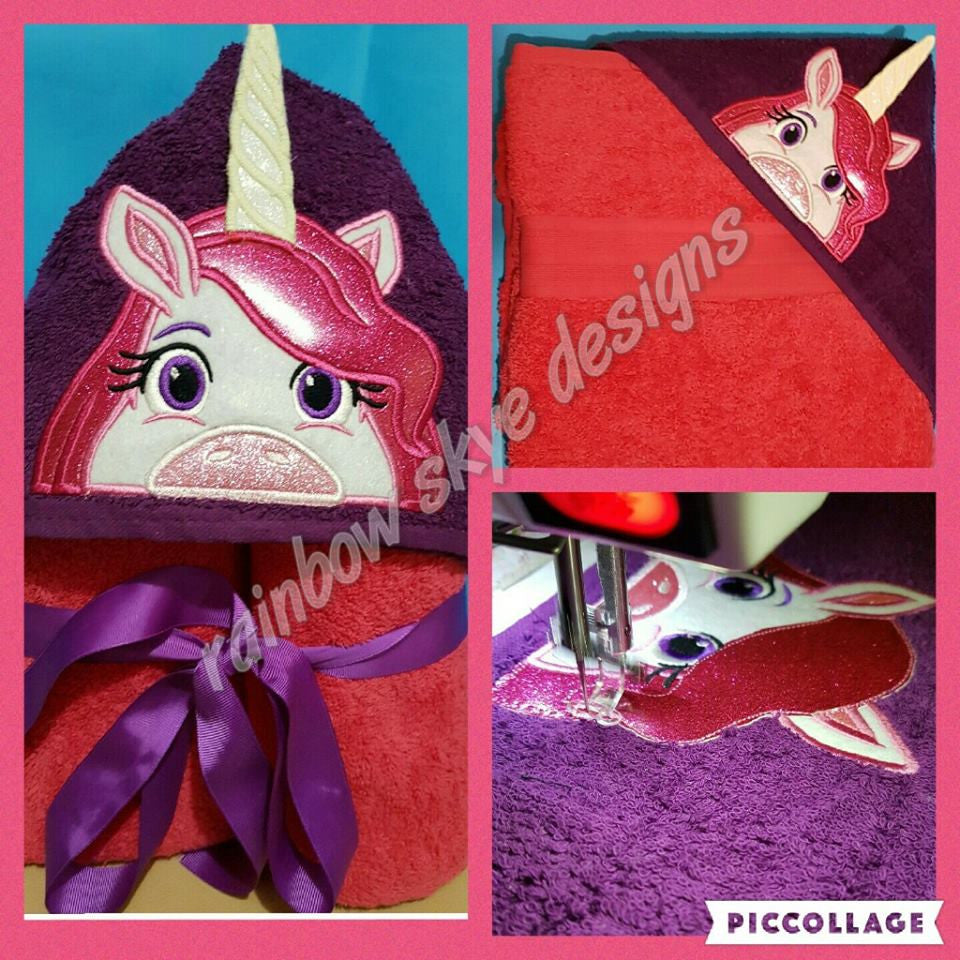 3D Unicorn Hooded Towel