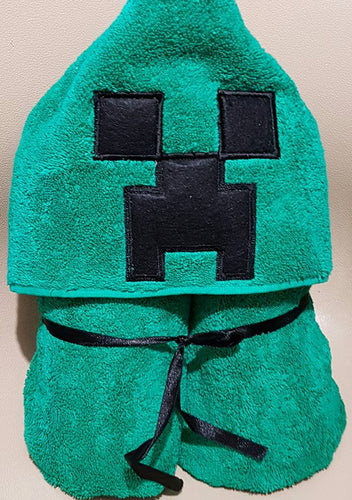 Minecraft Hooded Towel