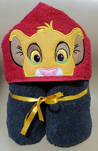 Simba The Lion Hooded Towel