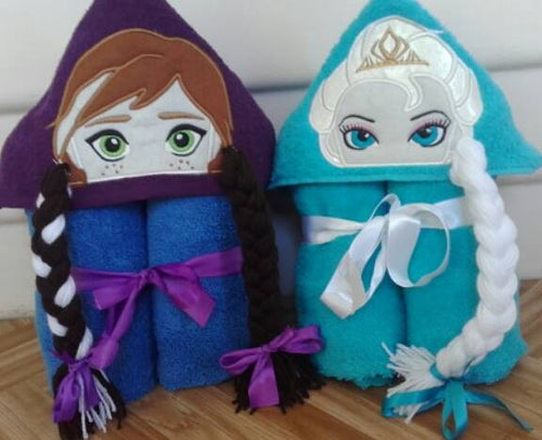 Frosty Girls Hooded Towels