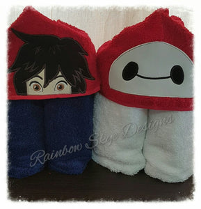 B robot Hooded Towel