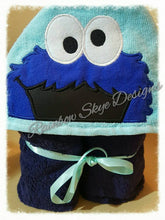 Blue and Red Monster Hooded Towel
