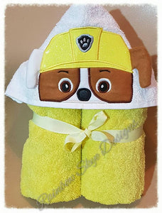 3D Paws Hooded Towels