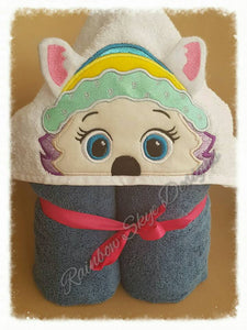 Girl Everest  Hooded Towel