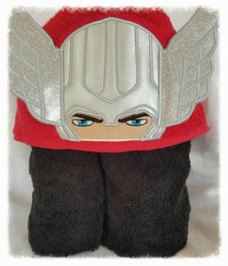 3D Thorhero Hooded Towel
