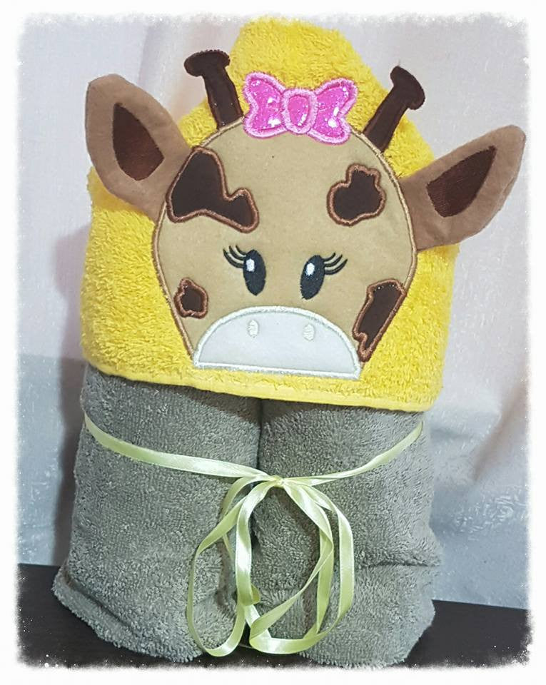 Giraffe Hooded Towel