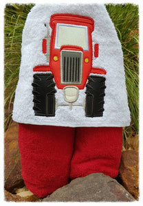 Tractor Hooded Towel