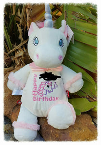 White Unicorn Teddy