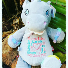 Grey Unicorn Teddy