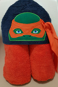 3D Coloured Turtles Hooded Towel