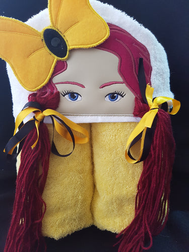Yellow Dancer Hooded Towel.