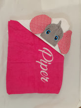 Elephant hooded towel boy and girl