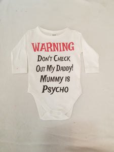 Custom personalized baby suits