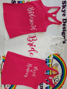 Ladies personalized singlets