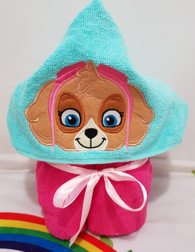 Paw patrol hooded towels