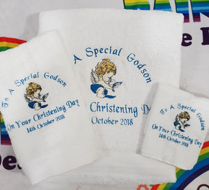 Christening towel set