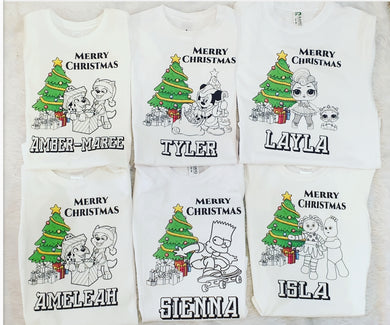 Colour me In Xmas Tshirts