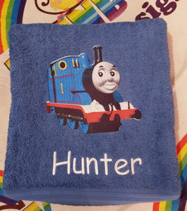 Thomas the tank Personalised towel