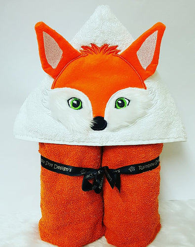 3D Fox Hooded Towel