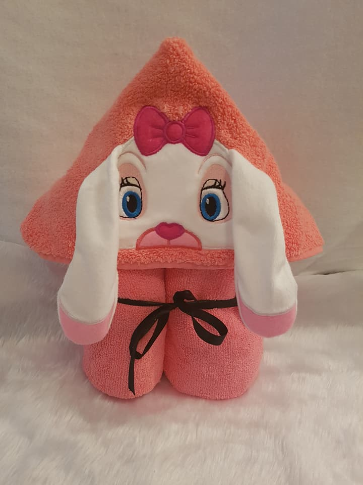 Easter Rabbit Hooded Towel