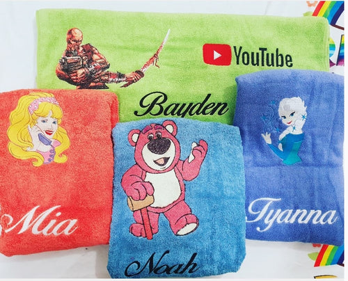 Towel custom Picture and Name