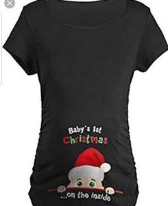 Baby's 1st xmas on the inside tshirt/singlet