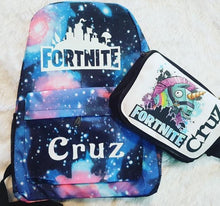 Fortnite bag and lunch bag